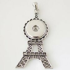 Eiffel Tower Necklace Magnolia 18mm Fits Gingersnap Ginger Snap Snaps Pendant