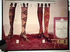 Vintage 1960's Photo Fashion Transparency Peek-A-Boo Shoes Stockings Display