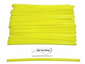 "50 K'NEX Neon Yellow Flexible Rods 7.25-7.5"" Son of Serpent Coaster Flexi KNEX"