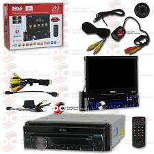 "BOSS BV9986BI CAR MOTORIZED 7"" LCD DVD BLUETOOTH STEREO FREE REAR VIEW CAMERA"