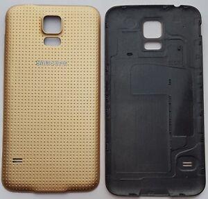 Samsung Galaxy S5 SM-G900F Akkudeckel Backcover  Rückseite aus PP Gold