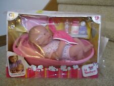 JC Toys Berenguer La Newborn Baby Doll with Play Bath Set Toy 2+ New Box Lot