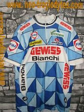 Vintage Cycling jersey shirt '80s Bianchi Gewiss team maglia bici ciclismo
