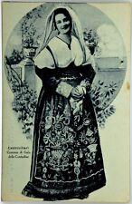 Cartolina Formato Piccolo - Castrovillari - Costume Di Gala Delle Contadine Viag