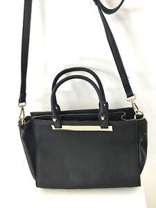 Handtasche tote shopper cross body doctors trapeze bag schwarz black TOPSHOP