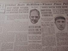 MAR 21, 1931 WRESTLING NEWSPAPER PAGE #J7075- DICK SHIKAT BESTS McMILLAN
