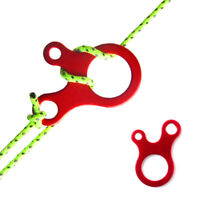 5Pcs Camping tent cord rope fastener guy line runner carabiner hook hanger W Tw