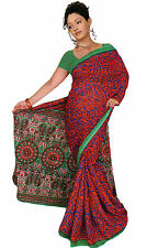 mousseline Bollywood Carnaval SARI ORIENT INDE fo356