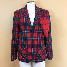Vintage Pendleton 100% Wool Plaid Blazer
