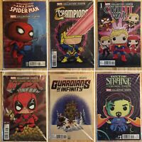 Marvel Collector Corps Variant Funko Comic Lot (Marvel) 6 Polybagged Issues
