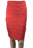 KATIES | Women's Bandage Skirt | Knee Length | Coral Colour | Size 8
