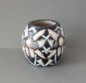 MANUFACTURE de SÈVRES 1927 ancien vase bijou ART DÉCO  d'Adrien Leduc.