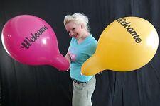 """3 x große TUFTEX 17"""" Luftballons WELCOME * Tuf-Tex* Willkommen"""