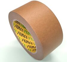 More details for 50mm x 50m paper packaging tape, eco kraft tape, brown kraft packaging tape