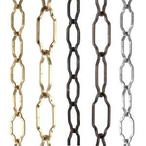 Gothic Open Link Decorative Lighting Chain Choose Brass, Nickel, Bronze and Size