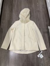 Laundry By Shelli Segal Ivory White Hooded Coat Size Medium NWT
