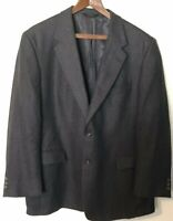 MENS vintage SIZE 46R WOOL HART SCHAFFNER MARX BLACKBLUE TWEED/2BUTTON SPORTCOAT