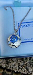 mackintosh 925 silver enamel locket