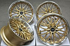 "18"" Roues en Alliage 18 in (environ 45.72 cm) CRUIZE 190 PIB Or Poli Deep Dish 5X112 Alloys"