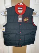 Mitchell & Ness Chicago Blackhawks NHL Play Clock Vest Black Vintage Size 2XL