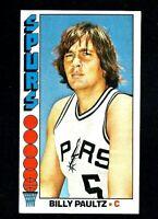 NMT 1976 Topps Basketball #19 Billy Paultz.