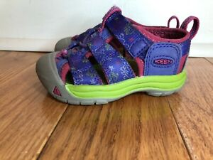 Keen Toddler Girls Purple Star Hiking Outdoor Sandal Size 5