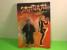 VINTAGE SAMURAI ACTION FIGURE MOC COMBAT MASTER TOY 1980s GRAY HAIR SPEAR SWORD
