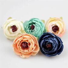 "20-100  2"" Artificial Silk Flower Heads Fake Rose Camellia DIY clothing Craft"