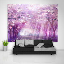 Anime Cherry Tapestry Art Wall Hanging Sofa Table Bed Cover Home Decor