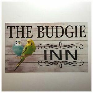The Budgie Bird Inn Sign