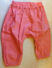 BNWOT M&S Marks Spencer Baby's Elasticated Trousers Age 3-6 M Peach 100% Cotton