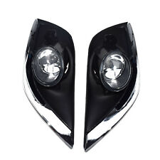 Pair Clear Lens Fog Lights For 2015-2017 Nissan Versa Sedan 4Dr w/Bezel Front