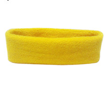 Yellow Gym Sweatband Headband Sweat Band Head Hen Party Stag Yoga Towel Terry