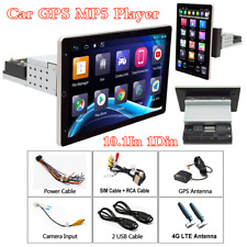 10.1In Rotatable Screen Android8.1 Car GPS Navi 1Din Stereo Radio BT Wifi Player