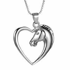 "Gift Boxed 18"" Chain Fast Shipping Horse in a Heart Pendant Necklace"
