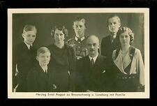 Foto-AK Ernst August zu Braunschweig mit Familie 1940