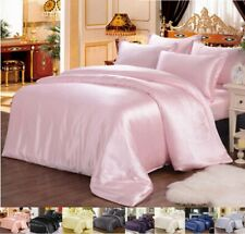 19mm 100% Silk Seamless Duvet Quilt Cover Sheets Pillow Case & Set Queen Size
