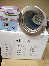 Nickel Silver Fixed Recessed Ceiling Downlight 50W GU10 IP20 Spot Light Fitting