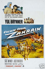 Escape from Zahrain Yul Brynner vintage movie poster