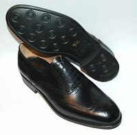 MAN OXFORD WINGTIP - BLACK CALF/VIT.NERO - DOUBLE LTH SOLE + DAINITE RUB SOLE