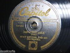 78 rpm STAN KENTON ORCH love for sale / easy go