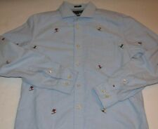 Tommy Hilfiger embroidered Skier ALL OVER Shirt SMALL Cheers Custom Fit