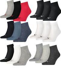 Puma Herren Damen Quarter Sport Socken 6 er 9 er 12 er 15 er 18 er Pack