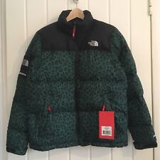Supreme x The North Face Green Leopard Nuptse DOWN JACKET M DEADSTOCK fw11 2011