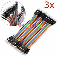 3X 3 PCS 40pcs 10cm Male To Male Dupont Wire Jumper Cable for Arduino Breadboard