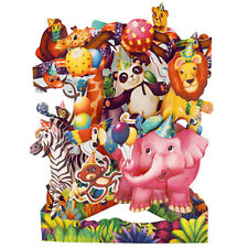 3D Swing Cards by Santoro - ANIMAL PARTY - SG-SC-178