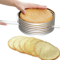 1pcs Stainless Steel Round Mousse Cake Ring Mold Layer Slicer Cutters mode ert