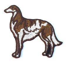 Borzoi Iron On Embroidered Patch