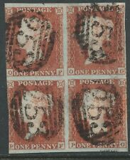 1849 Penny Red (Block of 4) Spec BS31 Plate 93 (OF/PG)  Fine Used 4 Margins