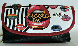 """NICOLE LEE """"SUGAR LIPS"""" Makeup Brush Holder Cosmetic Pouch"""